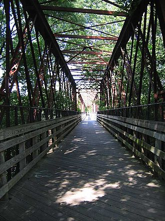 Northampton, Massachusetts - The Norwottuck Rail Trail Bridge across the Connecticut River