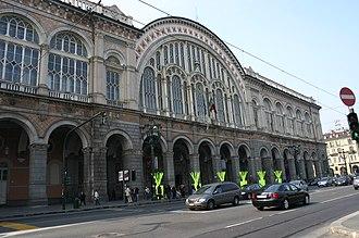 Station building - The station building of Torino Porta Nuova, 1861 Italy.