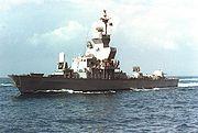 """ספינת טילים של חיל הים הישראלי. ספינה זו היא מדגם סער 4.5 """"נירית"""""""