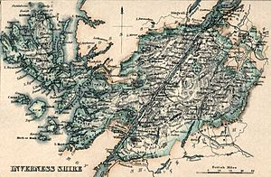 Inverness-shire - Map of Inverness-shire