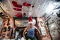 ISS-54 Mark Vande Hei in the Unity module on Christmas Eve.jpg