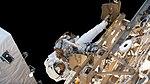 ISS-59 EVA-2 (i) Christina Koch on the Port-4 truss.jpg