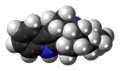 Ibogamine molecule spacefill.png