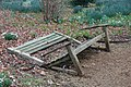 Ickworth Park, Suffolk, England -broken bench-2March2012.jpg