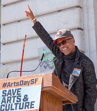 Idris Ackamoor - Image: Idris Ackamoor at SF Arts Advocacy Day 20170321 2806 (cropped)