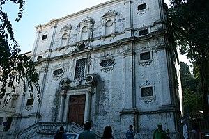 Igreja do Menino Deus - View of the main façade of the church.