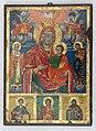 Ikona Bogorodice sa Hristom i svetiteljima, XIX vek, tempera na drvetu, 37,5×27,5 cm.jpg