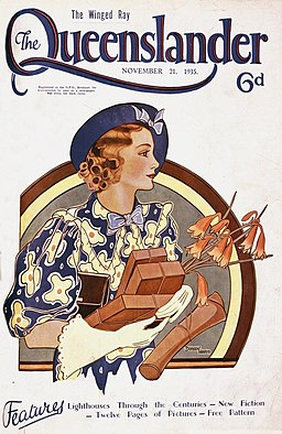 Illustrated front cover from The Queenslander, November 21, 1935 (4388312153)