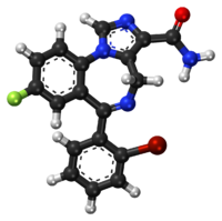 Imidazenil ball-and-stick model.png