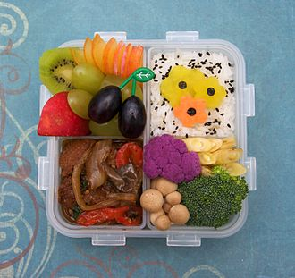 Food presentation - Example of a bento box
