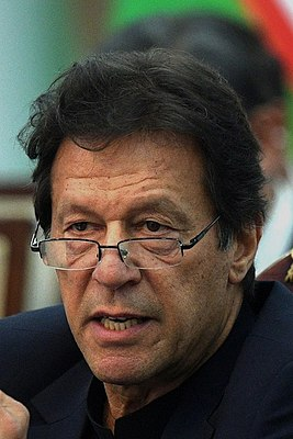 Imran Khan at the Shanghai Cooperation Organisation summit in 2019 (portrait cropped).jpg