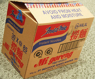 Instant noodle - A box of Indomie Mie goreng