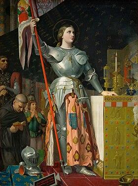 Jeanne d'Arc au sacre du roi Charles VII, toile de Dominique Ingres (1780-1867).