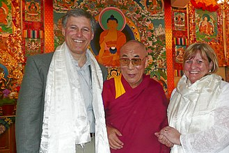 Jay Inslee - Jay Inslee and his wife Trudi Inslee meet with the Dalai Lama.