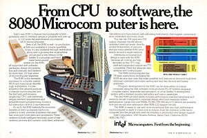 Intel 8080 - Image: Intel 8080 Advertisement May 1974