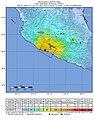 Intensidades Mercalli generadas por el sismo Magnitud 8,1 en Michoacan, Mexico.(19-09-1985).jpg