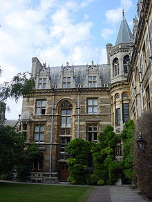 Interior North-East Corner of Waterhouse Building, Tree Court, Gonville & Caius (full).jpg