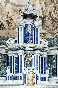 Interior of Chiesa dei Gesuiti (Venice) - High altar - Tabernacle by Jacopo Antonio Pozzo.jpg