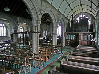St Teath - St Tetha's church, interior