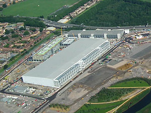 June 2011 - Aerial photo of the Olympic Park m...