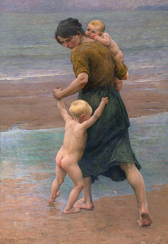 Virginie Demont-Breton - Image: Into the water, by Virginie Demont Breton