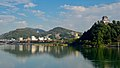 Inuyama Castle and mountains beside Kiso river from Inuyama Head Works.jpg
