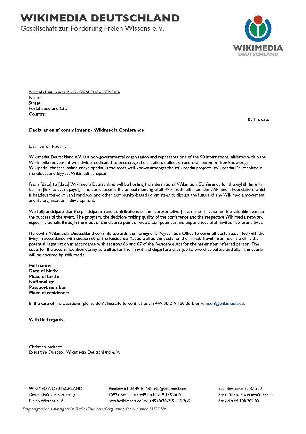 wikimania  letter of invitation