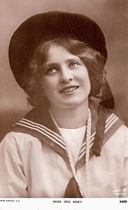 British actress Iris Hoey when small child wearing sailor suit Iris Hoey child.jpg