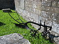 Iron plough at St Kew church.jpg