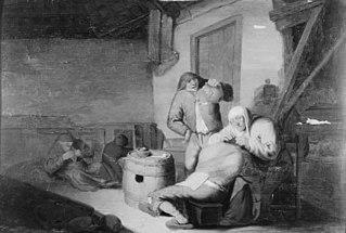 Farmer's Wife Delousing her Husband
