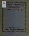Jüdische Sprichwörter (IA judischesprichwo00land).pdf