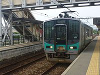 JRW 125 Kakogawa Line train at Ao Station 20130608 (9017813976).jpg