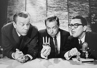 Hugh Downs - Jack Paar, Downs, Jose Melis on The Tonight Show; Downs was host Paar's announcer.