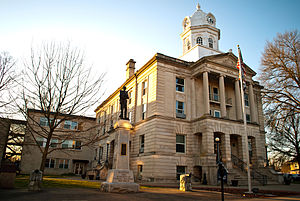 Ripley, West Virginia - The Jackson County Courthouse in Ripley in 2012