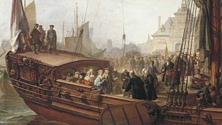 The Welcome by the Mayor of Rotterdam of William V, Prince of Orange and his Consort Anna of Great Britain