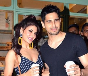 Jacqueline Fernandez - Jacqueline with her co-star Sidharth Malhotra from ''A Gentleman'', 2017.