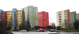 Panelák - Prague-Záběhlice, the housing estate Zahradní Město-východ.