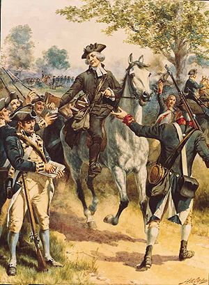 James Caldwell (clergyman) - Artist's depiction of Caldwell at the Battle of Springfield