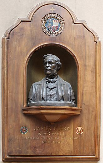 Marischal College - Bust of James Clerk Maxwell by Charles d'Orville Pilkington Jackson.  Located in the Mitchell Hall of Marischal College