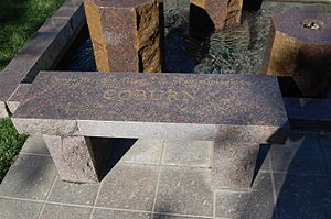 James Coburn - Coburn's grave marker