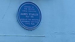 James starley blue plaque