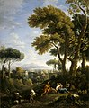 Jan Frans van Bloemen (1662-1749) - A Classical Landscape with a Traveller and Two Women Conversing and Three Goats Gambolling - 609003 - National Trust.jpg