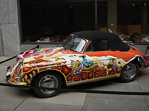 Mercedes Benz (song) - A Porsche 356 driven by Janis Joplin, customized with psychedelic art