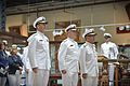 Japan Maritime Self-Defense Force (JMSDF) Adm. Katsutoshi Kawano, right, the JMSDF chief of staff, and U.S. Navy Chief of Naval Operations Adm. Jonathan Greenert, left, stand together during a full honors 120828-N-WL435-117.jpg