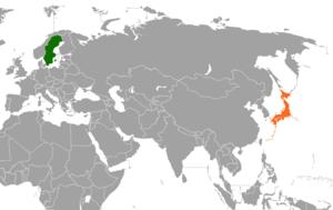 Japan–Sweden relations - Image: Japan Sweden locator
