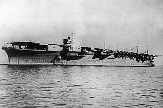 Shōkaku-class aircraft carrier - Zuikaku at anchor on the day she was completed, 25 September 1941