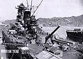 Japanese battleship Yamato fitting out at the Kure Naval Base, Japan, 20 September 1941 (NH 63433).jpg