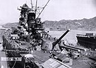 Japanese battleship Yamato fitting out at the Kure Naval Base, Japan, 20 September 1941 (NH 63433).jpg