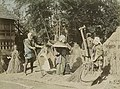Japanese farmers threshing rice in the 1890s, Digital ID- 110005. 189-? (3110741668) (cropped).jpg