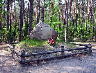 Battle of Wólka Węglowa - A monument commemorating the battle at Kampinos